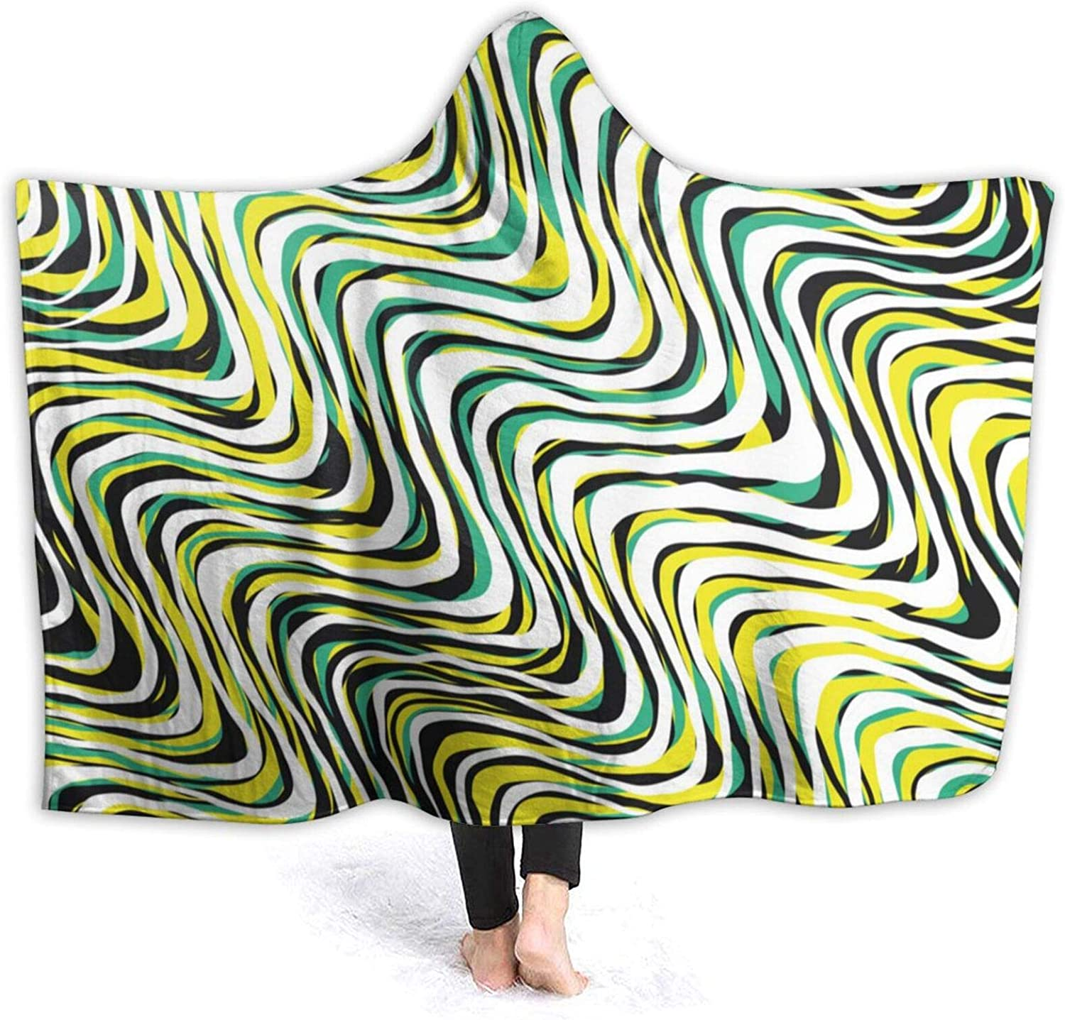 Waves free Hooded Blanket Our shop OFFers the best service Air Conditioning Anti Throw