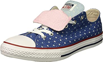Converse Kids' Double Tongue Star Perforated Low Top Sneaker
