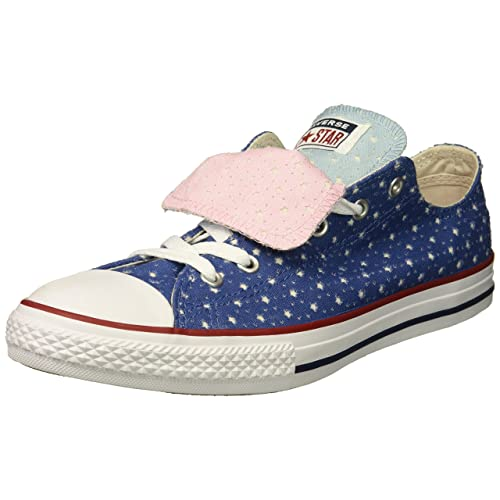 0334fc597ce9 Converse Kids  Double Tongue Star Perforated Low Top Sneaker