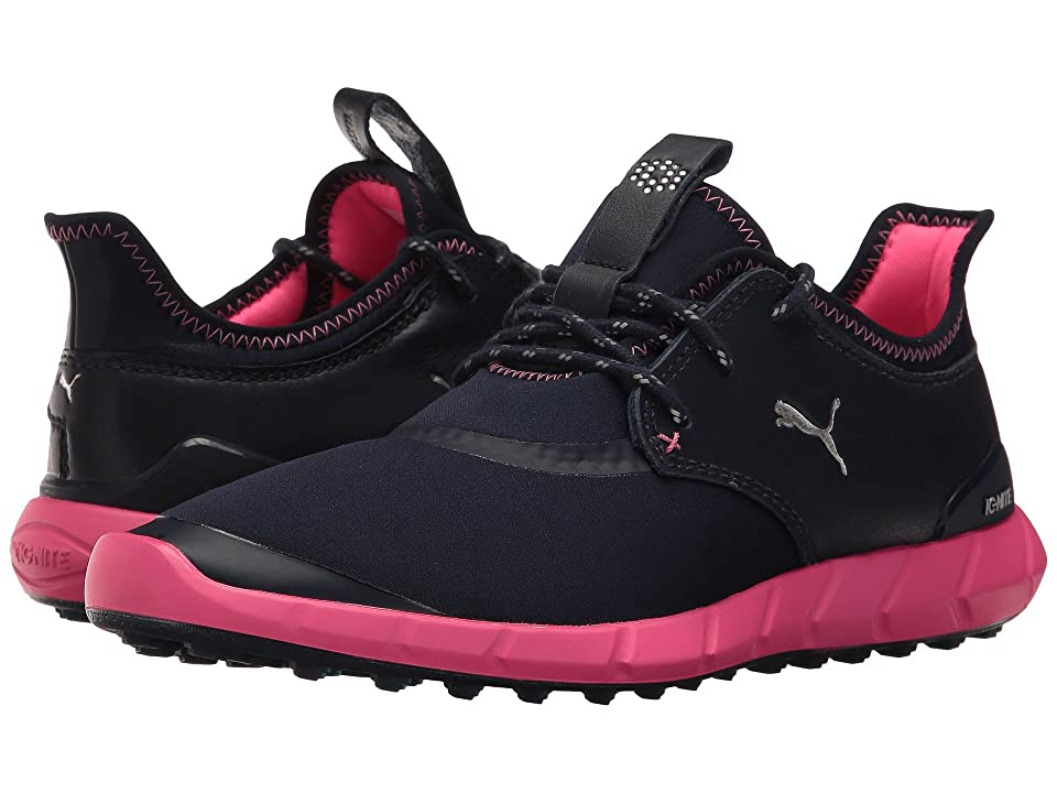 PUMA Golf Ignite Spikeless Sport (Peacoat/Silver/Knockout Pink) Women's Golf Shoes, Black