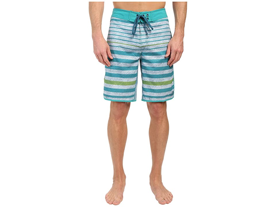 The North Face Whitecap Boardshorts (Vibrant Green Chambray Stripe (Prior Season)) Men