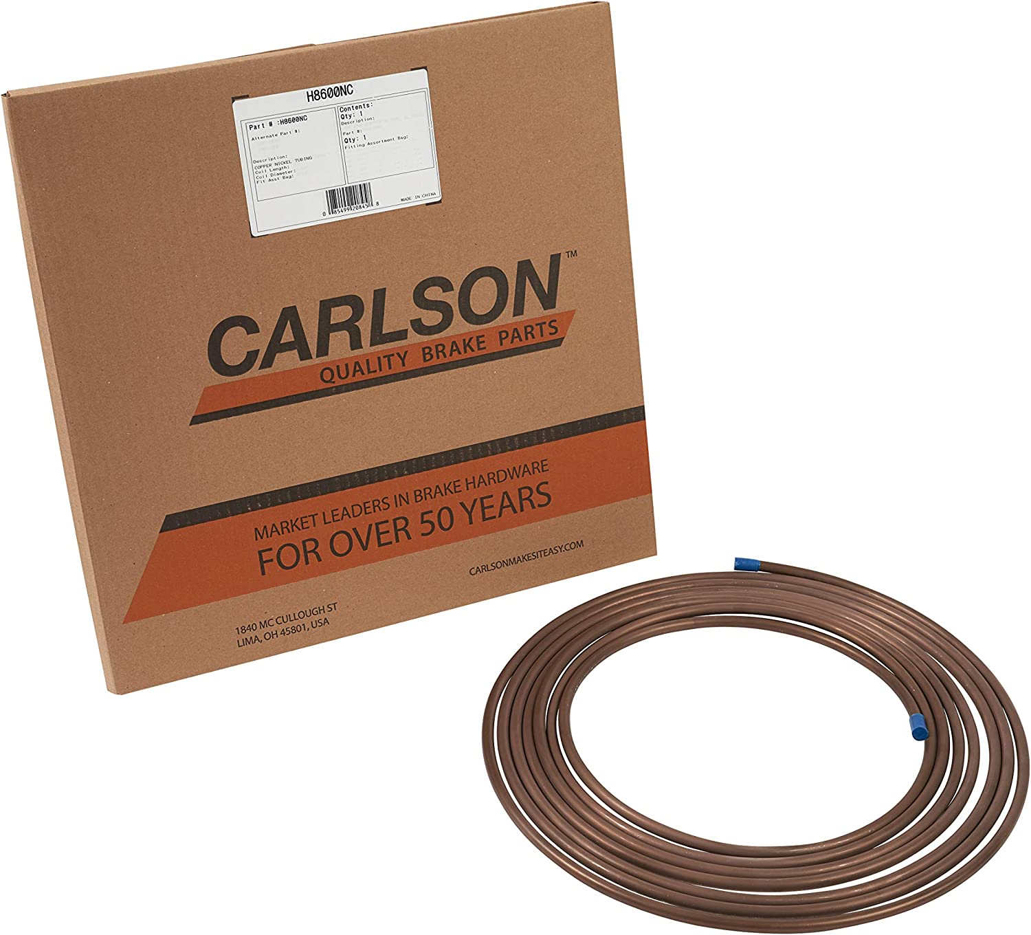 Carlson Ranking Price reduction TOP13 Quality Brake Lines H8600NC Line Copper 25