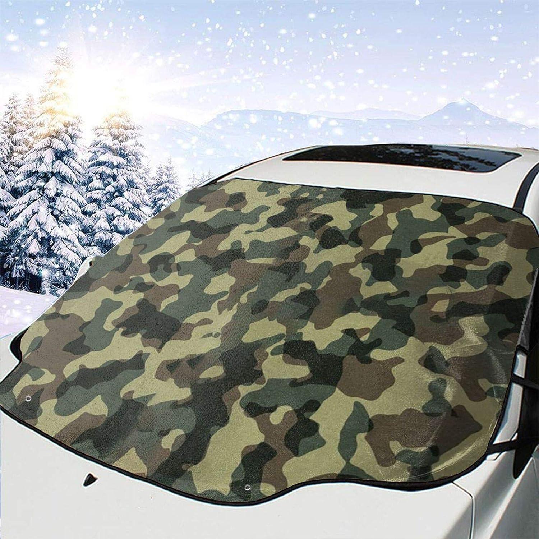 Car Front Window Windshields Max 70% Super sale OFF Snow Cover Camo Ice Green Guard Cov