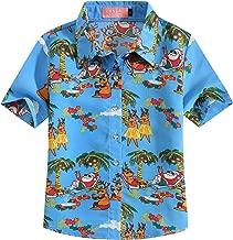 SSLR Big Girls' Santa Claus Party Funny Hawaiian Ugly Christmas Shirt