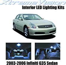 XtremeVision Interior LED for Infiniti G35 Sedan 2003-2006 (7 Pieces) Cool White Interior LED Kit + Installation Tool