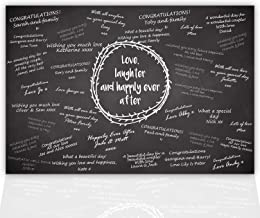Wedding Guest Signing Board, a unique Wedding Guest Book Alternative & Wedding Keepsake, Chalkboard Style by Ocean Drop Designs