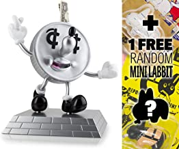 """Lucky Dime Coin Bank: ~10"""" Kidrobot x Jeremyville Vinyl Figure Money Box + 1 FREE Official Labbit Mini-Figure Bundle"""