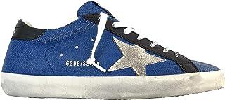 Golden Goose Scarpe Sneakers Uomo Vintage Superstar 50558 Blu Nero (Numeric_42)