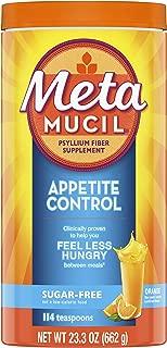 Metamucil Appetite Control Fiber, 4-in-1 Psyllium Fiber Supplement, Sugar Free Powder, Orange Zest Flavored Drink, 57 Servings (Packaging May Vary)
