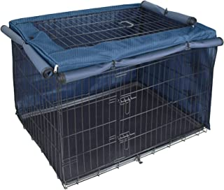 Explore Land Dog Crate Cover for 24 Inches Wire Cage, Heavy-Duty Lattice Pet Kennel Covers Compatible with 1 2 3 Doors Sta...