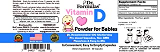 DrFormulas Vitamin D 400 IU Powder for Infants, Babies, Kids, Toddlers, Newborns and Children - Not Baby D D3 400IU Liquid...