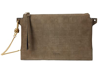 AllSaints Fletcher Crossbody (Dark Khaki Green) Handbags