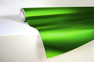 VViViD Green Satin Chrome Vinyl Wrap Stretch Conform DIY Easy to Use Air-Release Adhesive (10ft x 5ft)