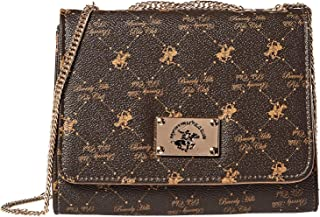 Beverly Hills Polo Club Flap Bag for Women - Brown