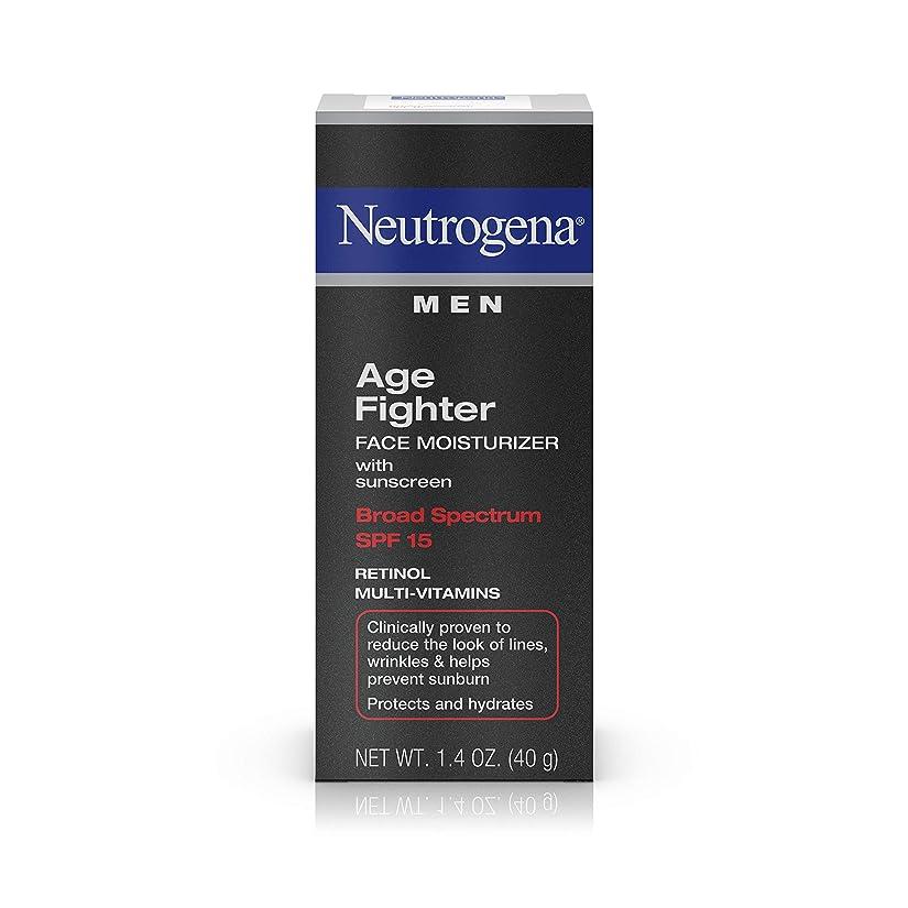 成人期鬼ごっこやむを得ないNeutrogena Men Age Fighter Face Moisturizer with sunscreen SPF 15 1.4oz.(40g) 男性用ニュートロジーナ メン エイジ ファイター フェイス モイスチャライザー