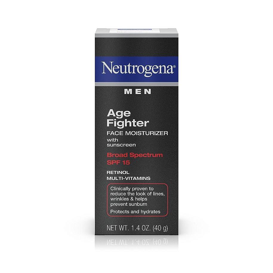 童謡わずかなドラフトNeutrogena Men Age Fighter Face Moisturizer with sunscreen SPF 15 1.4oz.(40g) 男性用ニュートロジーナ メン エイジ ファイター フェイス モイスチャライザー
