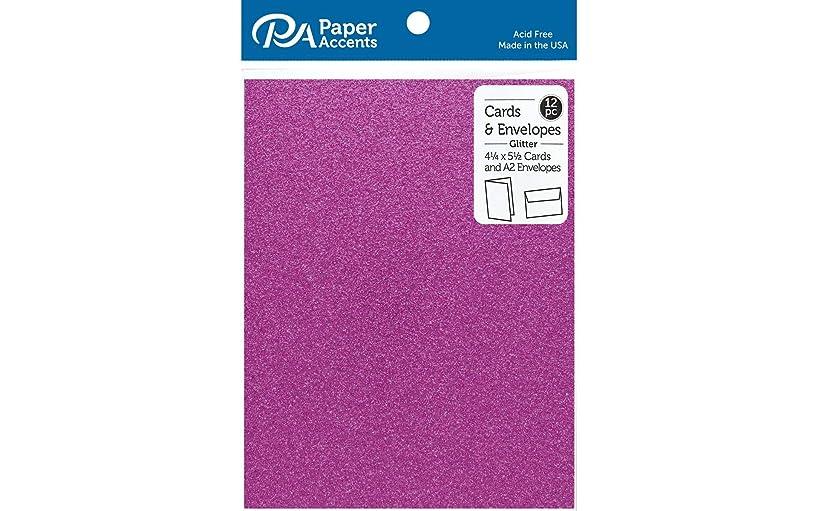 PA Paper Accents ADP4255-12.G26 C&E 4x5 12pc Glitter Purple None
