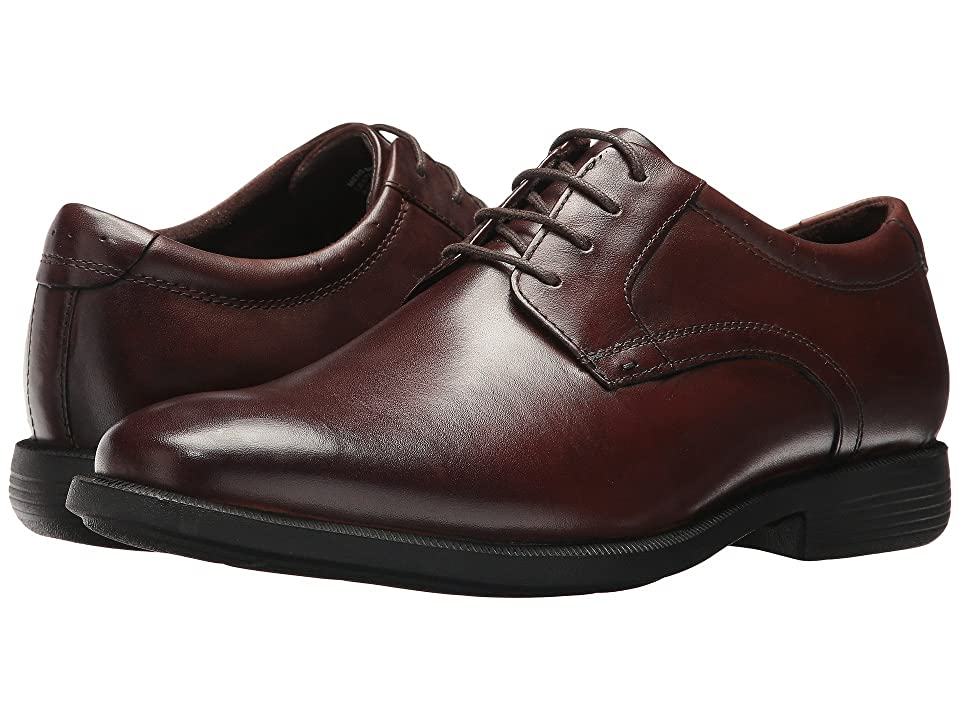 Nunn Bush Devine Plain Toe Oxford with KORE Walking Comfort Technology (Brown) Men