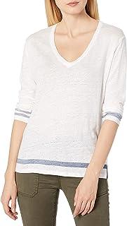 Majestic Filatures Women's T-Shirt, 857. Blanc/Marine