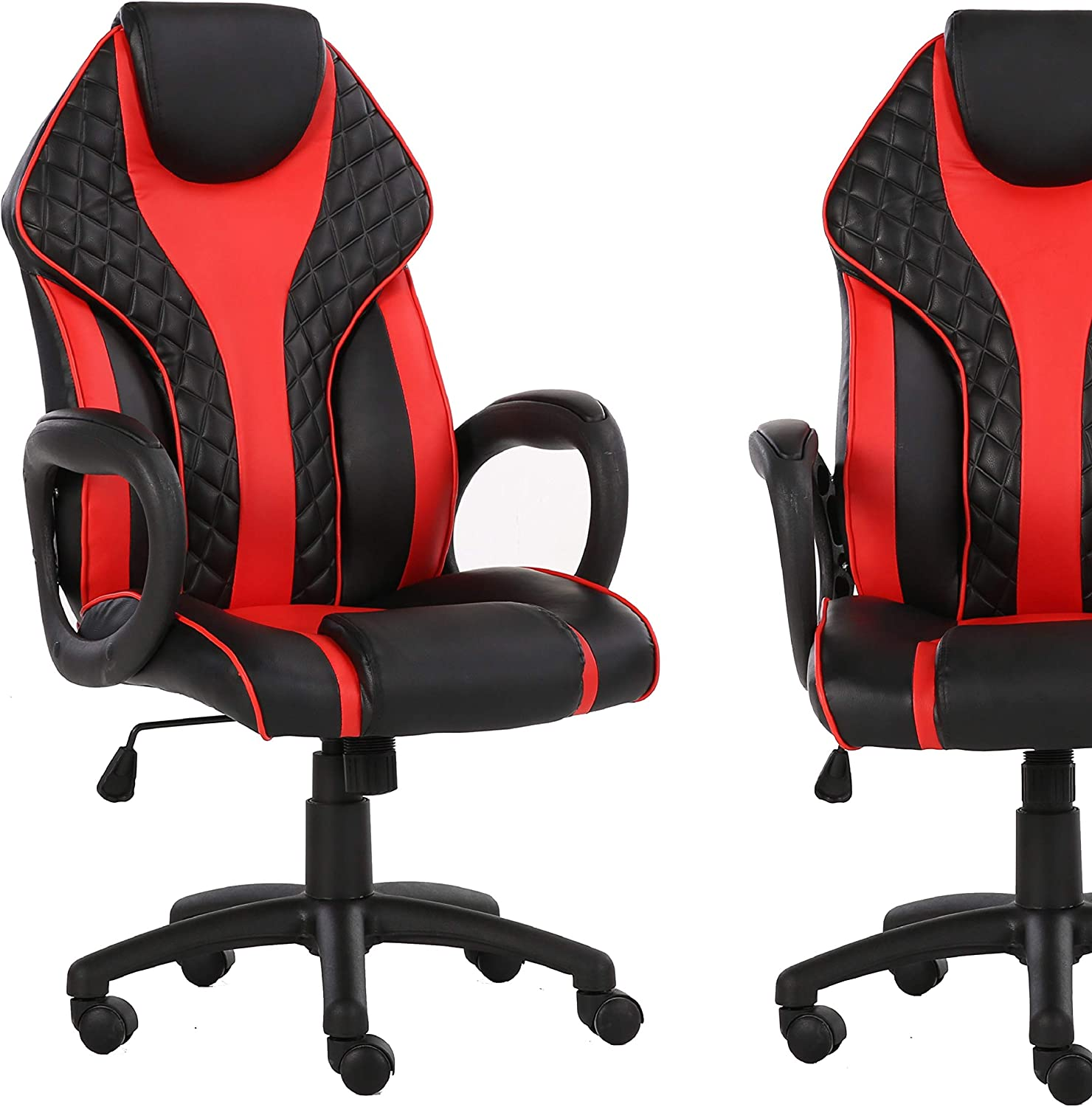 Viscologic Staple Gaming Racing Sports Styled Home Office Chair (Black & Red)