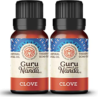 GuruNanda Clove Essential Oil (2 Pack) - 100% Pure Therapeutic Grade, Natural Healing Oil for Oral and Dental Care, Use in...