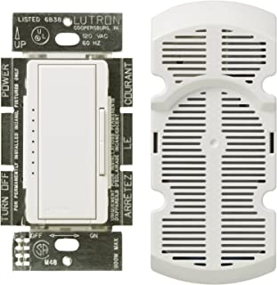 Lutron MA-FQ4FM-WH Maestro Digital Fan Control, White