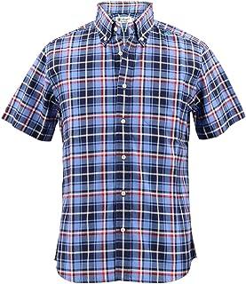 [SWEEP!! LosAngeles スウィープ!! ロサンゼルス] メンズ コットン 半袖 チェック柄 ボタンダウンシャツ S/S STANDARD OX CHK BLUE(ブルー)