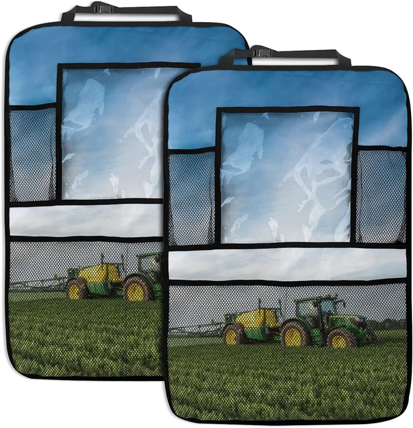 Car Backseat Tulsa Mall Organizer New color Tractor Green B Seat Farmland Print