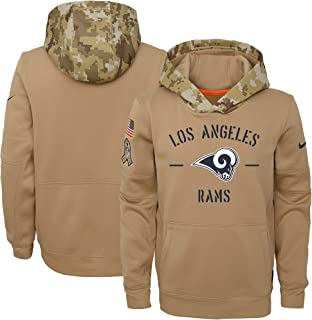 Nike Los Angeles Rams Youth Boys 2019 Salute to Service Therma Pullover Hoody Sweatshirt - Tan