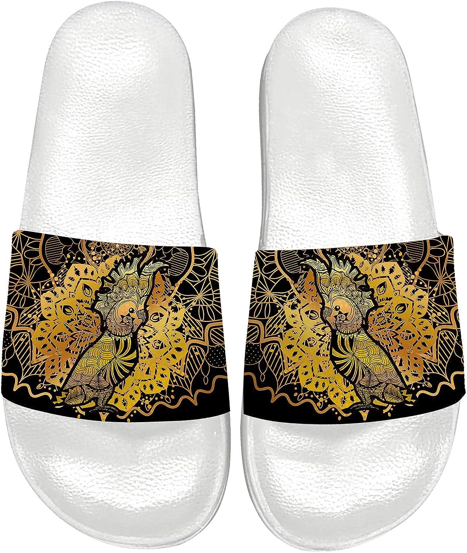 Gold Mandala Sandals for Max 63% OFF Women Men Athletic Cocka Outdoor Slides 70% OFF Outlet