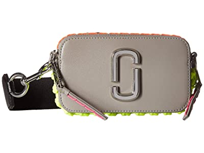 Marc Jacobs Snapshot Whipstitches (Drizzle Grey) Handbags