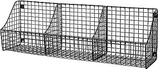 Spectrum Diversified Mount Triple Wire 3 Storage Bins Decor & Entryway Organization, Rustic Farmhouse Wall Basket, Industr...