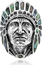 AeraVida Abalone Shell Native American Style .925 Sterling Silver Ring