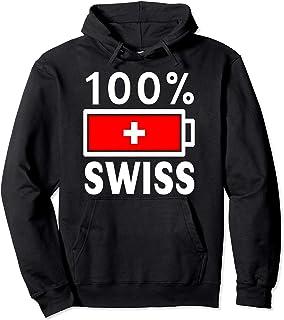 Switzerland Flag Hoodie   100% Swiss Battery Power Tee