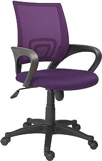 Adec – Logic, Silla de Oficina, Silla de Escritorio, Silla despacho, Color Violeta, Medidas: 60 cm (Ancho) x 60 cm (Fondo) x 90-102 cm (Alto)