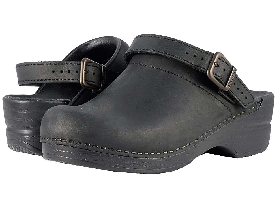 Dansko Ingrid (Black Oiled) Women's Clog Shoes