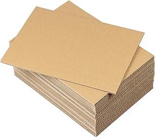 Lot de 30 planches en carton ondulé A4 (210 x 297 mm) - Feuilles en carton ondulé rigide - 4 mm - Marron kraft - Pour trav...
