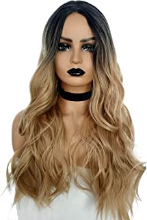 """23"""" Natural Full Wigs Hair Long Wavy Wig Synthetic Heat Resistant (Ombre Brown)"""