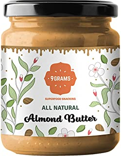 9GRAMS Pure Almond Butter | No Added Sugar, No Hydrogenated Fat, No Preservatives