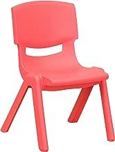 10¬?'' Preschool/Kindergarten Red Plastic Stack Chair [YU-YCX-003-RED-GG]