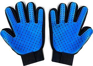 LPVLUX - ペットグルーミンググローブ - 強化された5指デザインのマッサージツール - ペット グローブ - ペット ブラシ - 犬用ブラシ