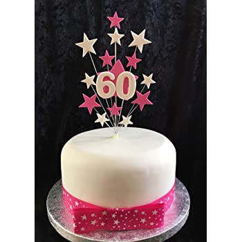 Tremendous Red And White Star Cake Topper Ideal For A Small Cake Or Cupcake Funny Birthday Cards Online Aboleapandamsfinfo