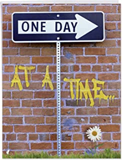 One Day At A Time - Funny Alcoholics Anonymous Anniversary Card with Envelope (Big 8.5 x 11 Inch) - AA Meeting Humor, Happy Anniversary Greeting Notecard for Wife, Husband - Gratitude Gift J9707