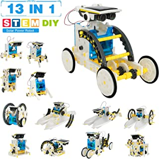 Pickwoo STEM Solar Robot Toys 13-in-1, Education Science Experiment Kits for Kids Ages 8-12 and Older, DIY Building Your O...