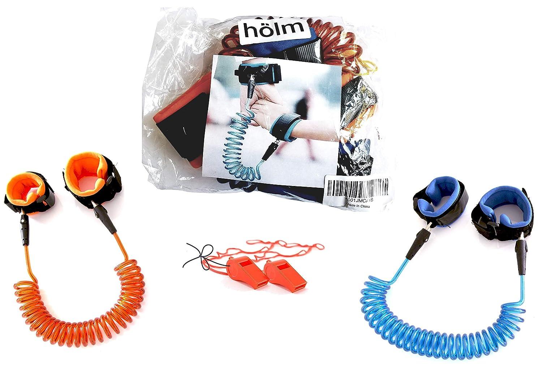 Toddler Harness Walking Leash- Child Anti Lost Wrist Link - Child Safety Harness - 2 Pack (4.9ft & 8.2ft)- Child Safety Wrist Link - 2 Bonus Whistles