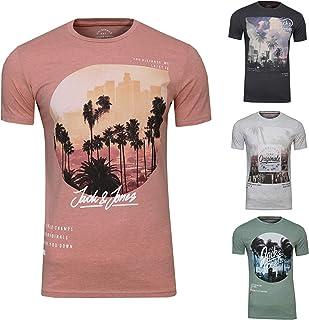 Jack & Jones Men's T-Shirt Pack of 4 Crew Neck O-Neck Tee Shirt S, M, L, XL, XXL