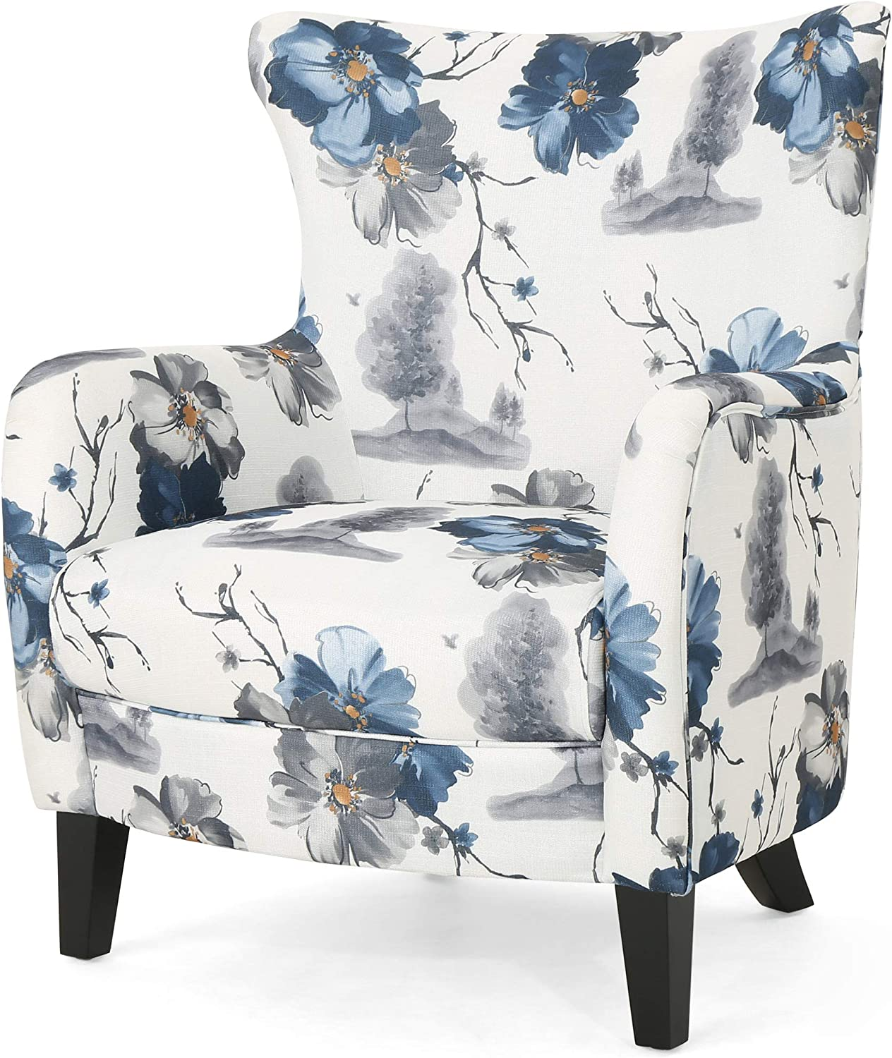 Christopher Knight Home Oliver Fabric Print Chair Br Club Dark Beauty products Max 83% OFF