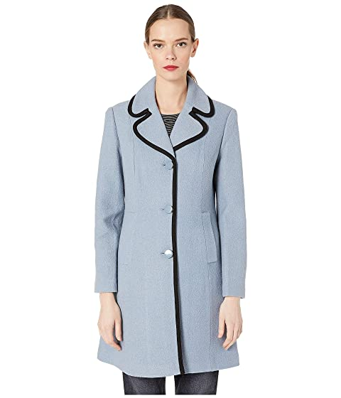 Kate Spade New York Single Breasted Wool Twill Coat