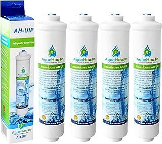 4x AquaHouse AH-UIF Compatible Filtre à eau universel pour réfrigérateur Samsung LG Daewoo Rangemaster Beko Haier etc Réfr...