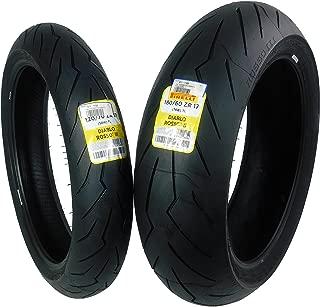 Pirelli Diablo Rosso III Front & Rear Street Sport Motorcycle Tires Rosso Three Rosso 3 (120/70ZR17 180/60ZR17)